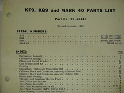 PARTS MANUAL - KF9, KG9, MARK 40 (DOWNLOAD ONLY)